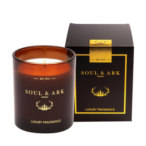 Soul & Ark Amber Glass Soy Candle