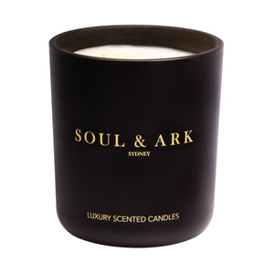 Soul & Ark XXL Black Matt Soy Candle with Double Wick