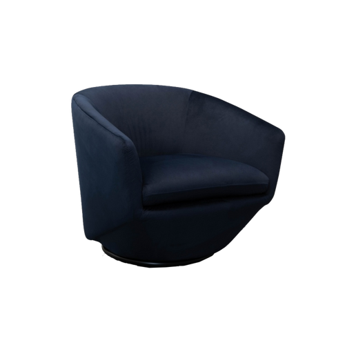 Navy Velvet Upholstered Armchair
