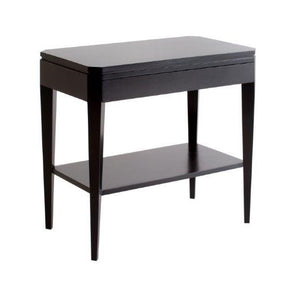 Hamptons Black Contemporary Bedside Table
