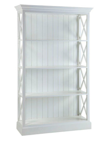 Hamptons White Cross Bookcase