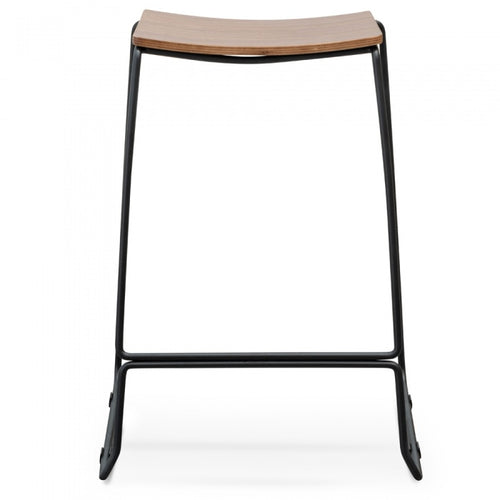 Bar Stool with Walnut Timber Seat