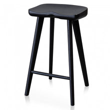 Load image into Gallery viewer, Black Timber Bar Stool