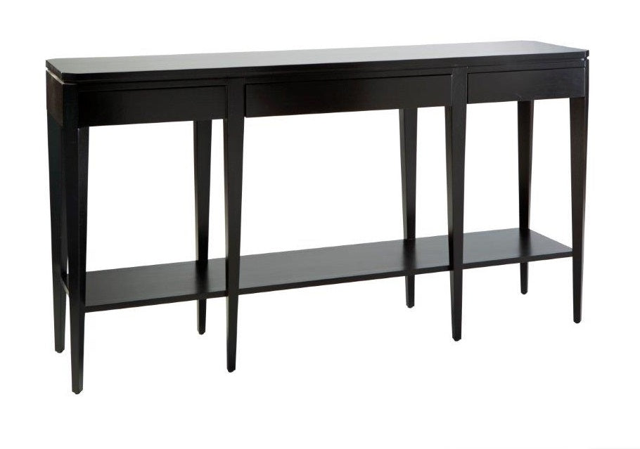 Hamptons Black Large Slimline Hallway Table