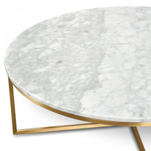 Load image into Gallery viewer, Marble Coffee Table with Gold Legs