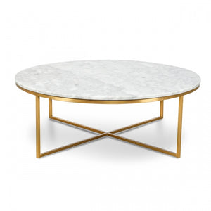 Marble Coffee Table with Gold Legs