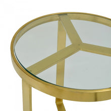 Load image into Gallery viewer, Brushed Gold Side Table
