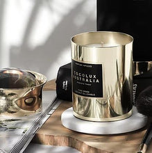 Load image into Gallery viewer, Cocolux | Island Fig, Cassis & Peach - Large Luna Brass Candle