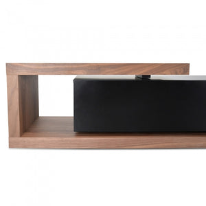 Scandinavian Low-line Walnut Entertainment Unit