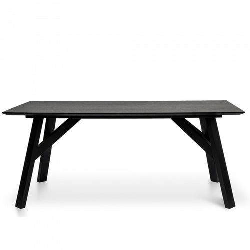 Scandinavian Black Timber 1.8m Dining Table