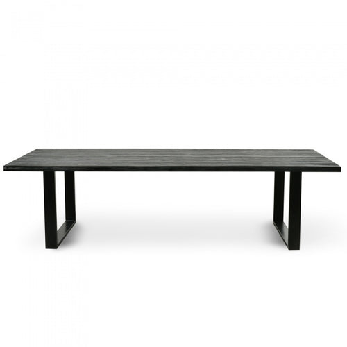 2.8m Reclaimed Black Timber Dining Table