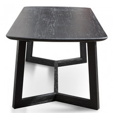 Load image into Gallery viewer, Solid Black Timber 2.2m Dining Table
