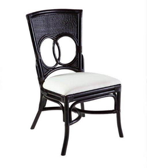Hamptons Black Rattan Dining Chair
