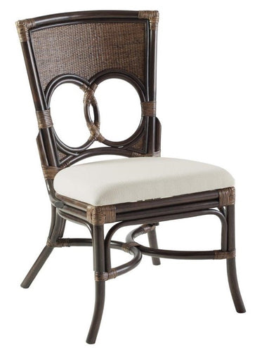 Hamptons Antique Brown Rattan Dining Chair