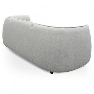 3 Seater Sofa in Light Textured Grey and Black Legs