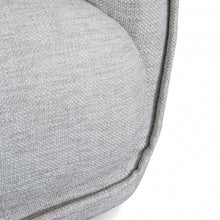 Load image into Gallery viewer, 3 Seater Sofa in Light Textured Grey and Black Legs