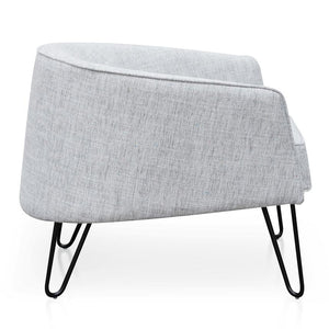 Light Grey Armchair with Black Legs