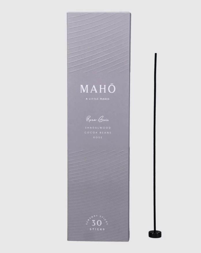 Maho Rose Bois Incense Sticks and Burner Set