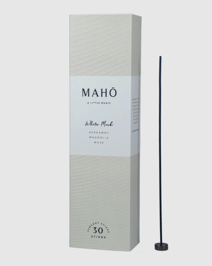 Maho White Musk Incense Sticks and Burner Set