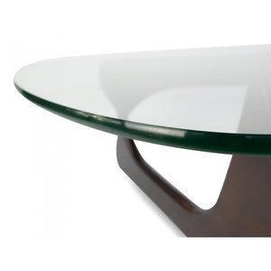 Black Timber Coffee Table with Glass Top