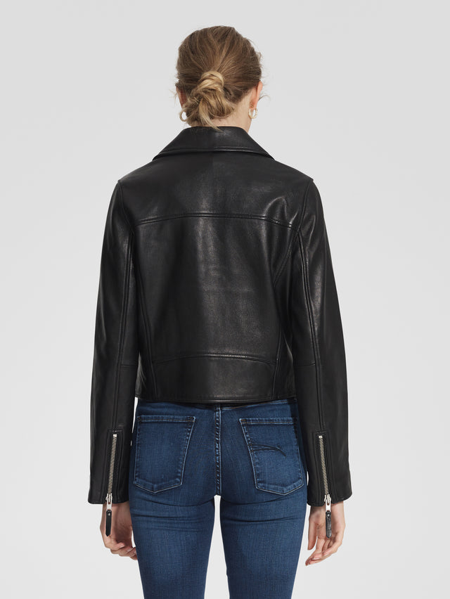 Classic Leather Jacket Blk Leather