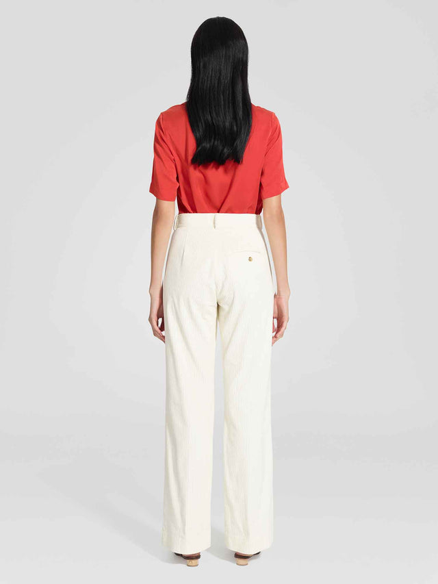 Cord Tailored Pant Ivory