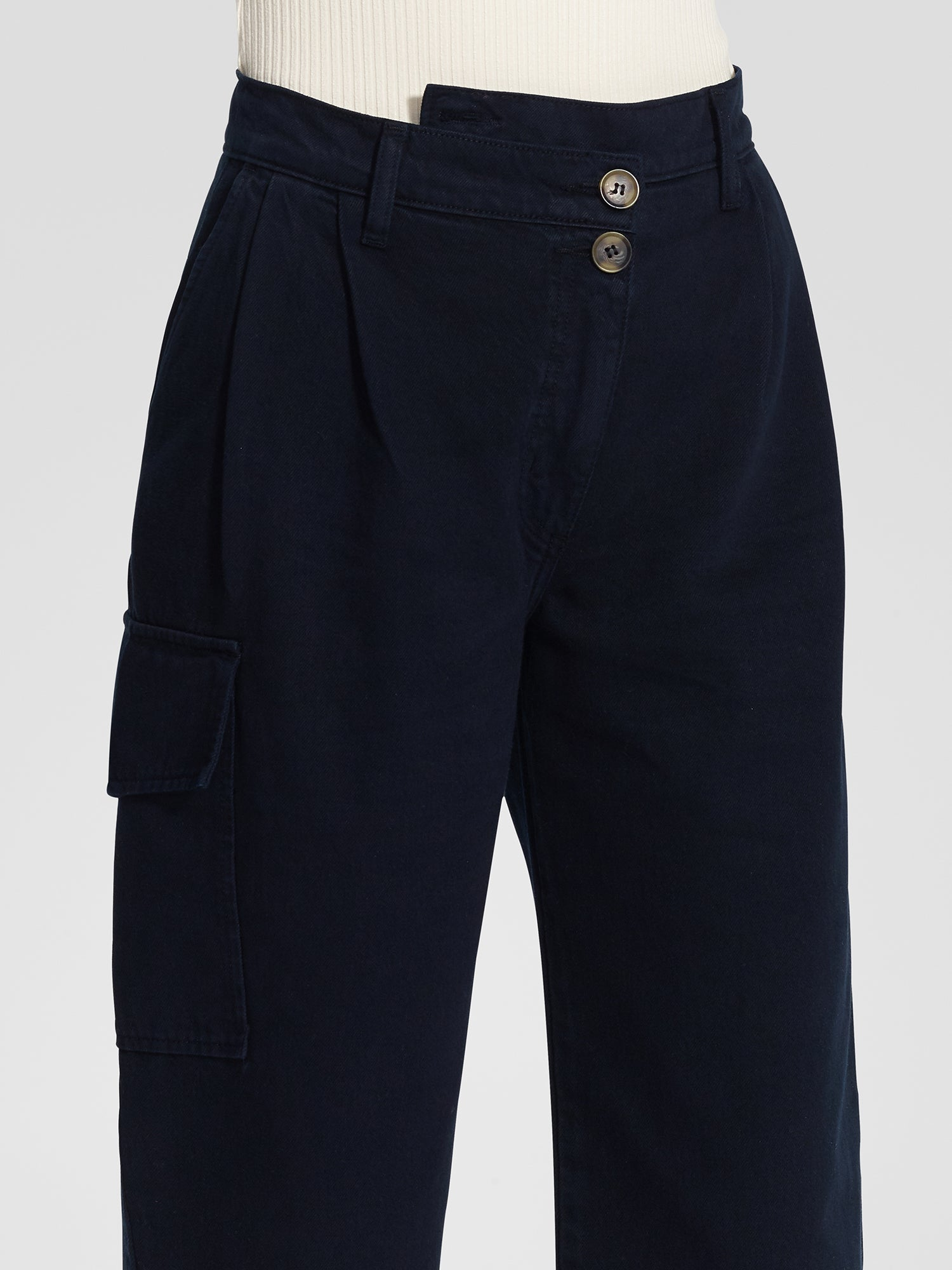 Angled Pleat Pant Sailor