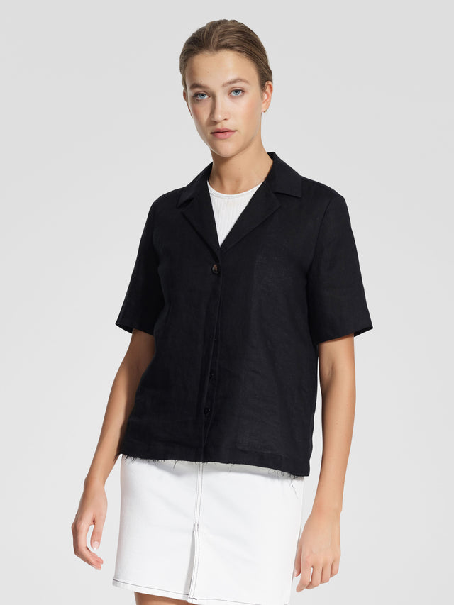Gallery Shirt Linen Black