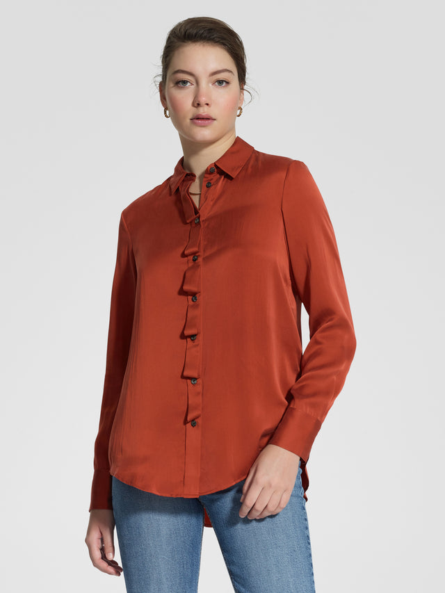 Ripple Shirt Rust