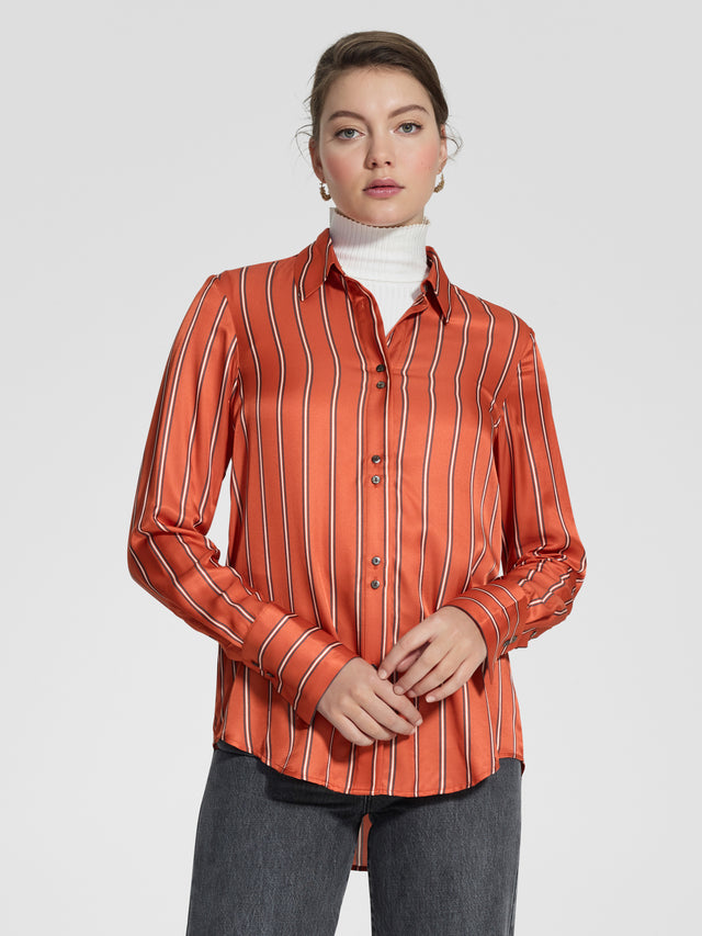 Dynamic Shirt Persimmon Stripe