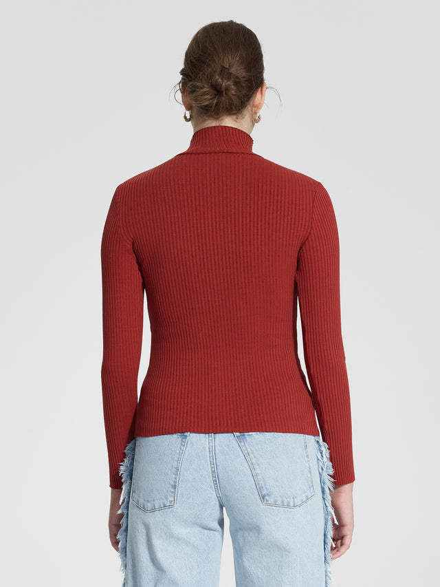 Luxe Rib Long Sleeve Rust Rib