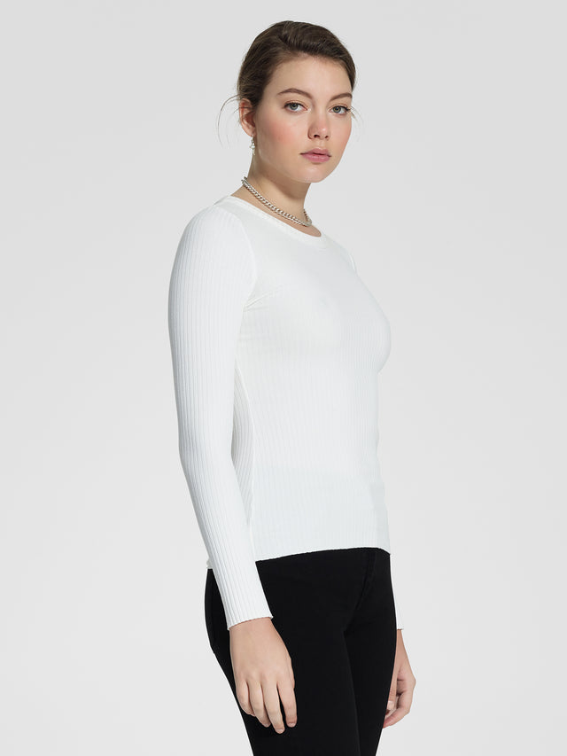 Luxe Rib Bound Long Sleeve Natural Rib