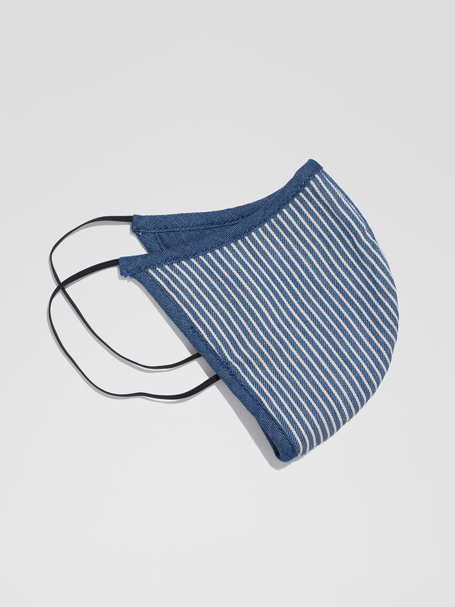 Reversible Denim Face Mask - Stripe