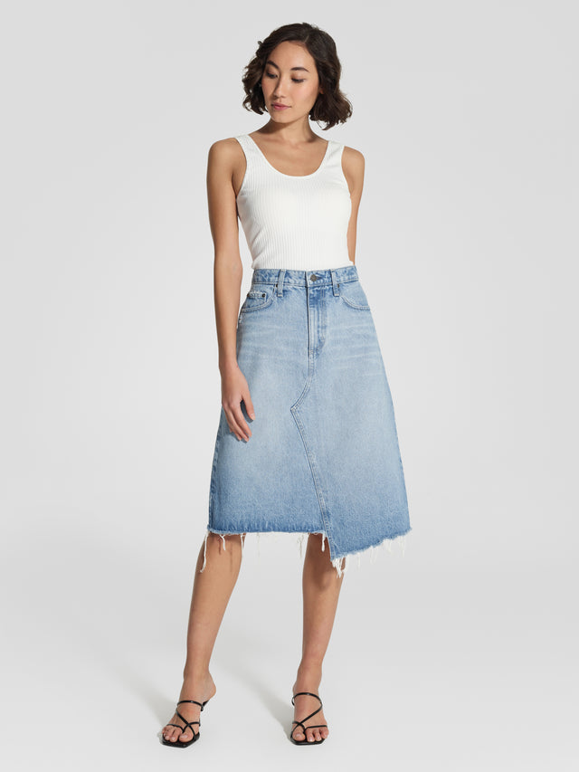 Skewed Midi Skirt Bliss