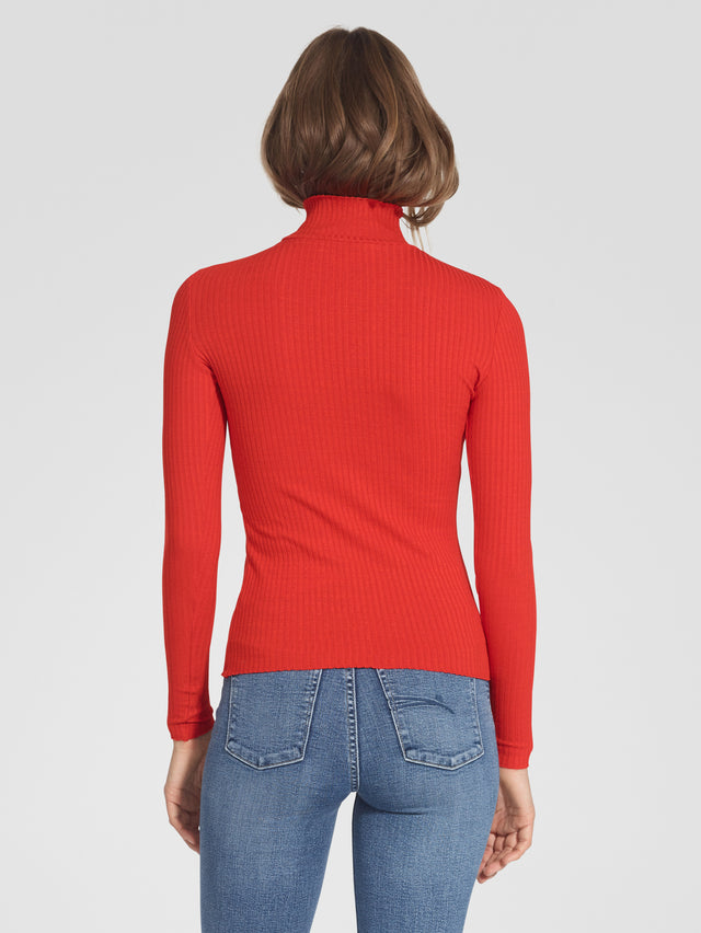Luxe Rib Long Sleeve Poppy