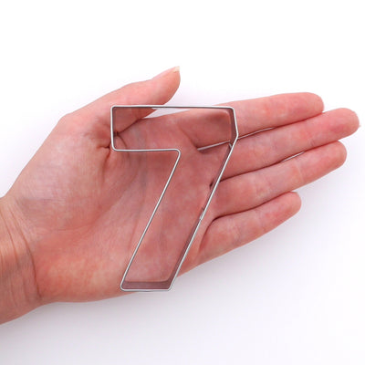 Number Seven Cookie Cutter- Stainless Steel