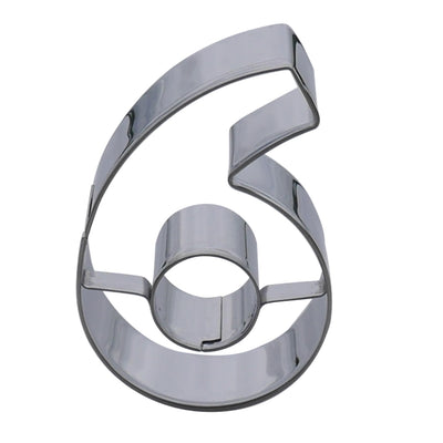 Number Six Cookie Cutter- Stainless Steel
