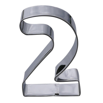 Number Two Cookie Cutter- Stainless Steel