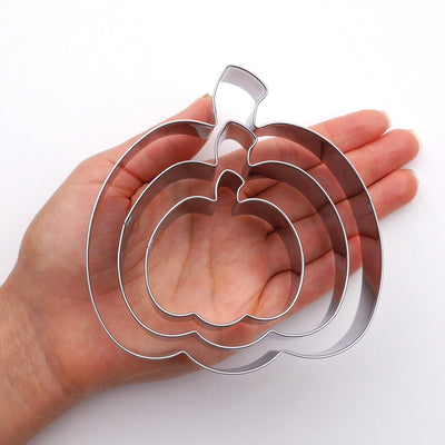 Pumpkin Cookie Cutter Set, 3 Piece, Stainless Steel