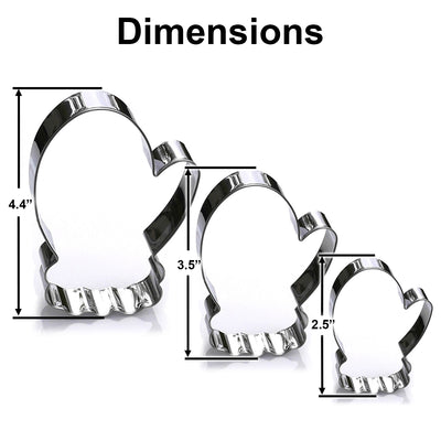 Mitten Cookie Cutter Set, 3 Piece, Stainless Steel