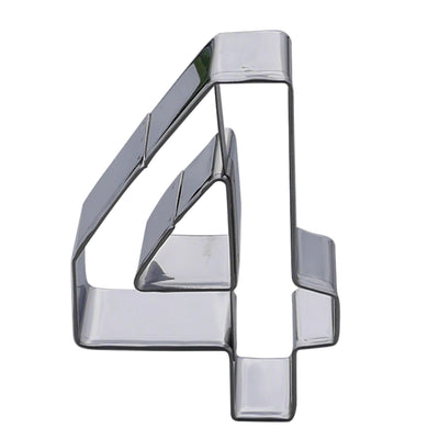 Number Four Cookie Cutter- Stainless Steel
