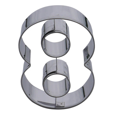 Number Eight Cookie Cutter- Stainless Steel