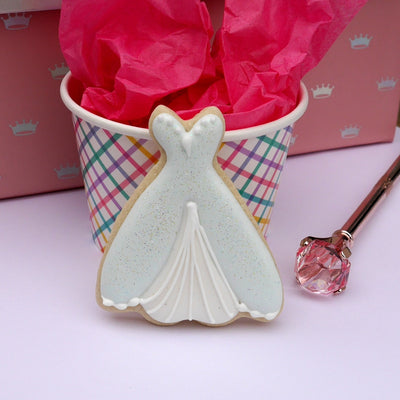 Princess Wedding Dress Cookie Cutter - Stainless Steel