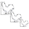 Rooster Cookie Cutter Set, 3 Piece, Stainless Steel