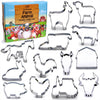 Farm Cookie Cutter Set, 13 Piece Set, Stainless Steel
