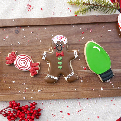 Christmas Light Bulb Cookie Cutter - Stainless Steel