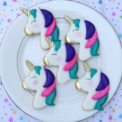 Unicorn Head Cookie Cutter - Stainless Steel