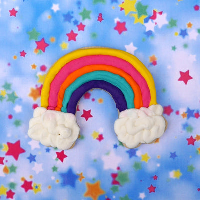 Rainbow Cloud Cookie Cutter - Stainless Steel
