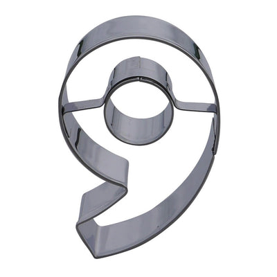 Number Nine Cookie Cutter- Stainless Steel