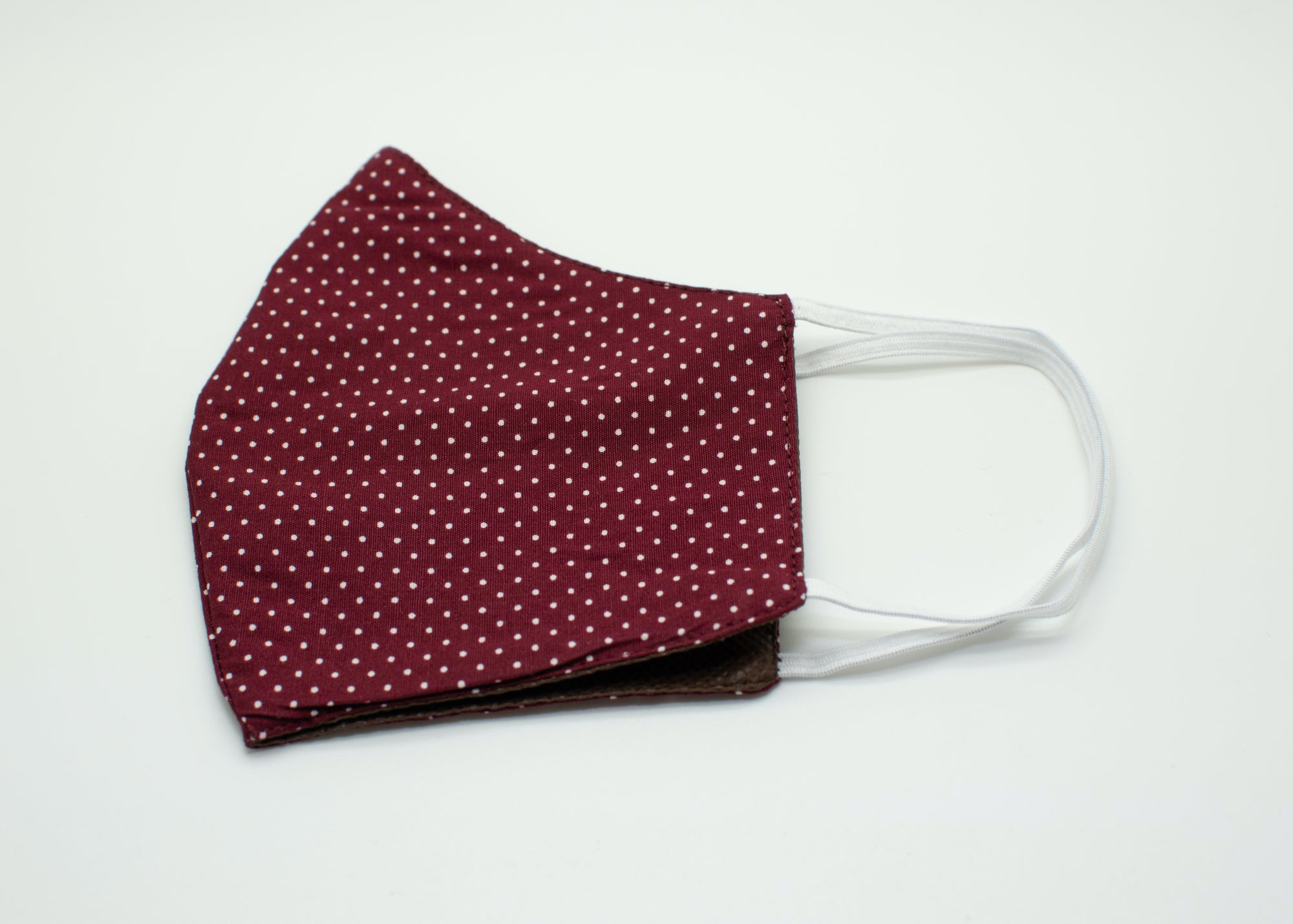 Wine Polka Dot Mask